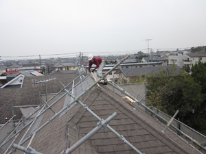 【完工事例】[11.12.8] 藤沢市K様邸 屋根葺き替え工事