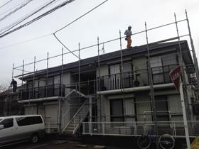 【完工事例】[12.2.25] 藤沢市Pアパート 外壁塗装・屋根塗装・付帯部塗装・シーリング打ち替え工事