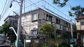 【完工事例】[14.6.20] 藤沢市Sアパート 外壁塗装・付帯塗装・シーリング打替工事