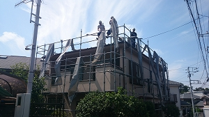 【完工事例】[14.8.1] 藤沢市F様邸 外壁塗装・屋根塗装・付帯塗装・バルコニー床トップコート塗布工事